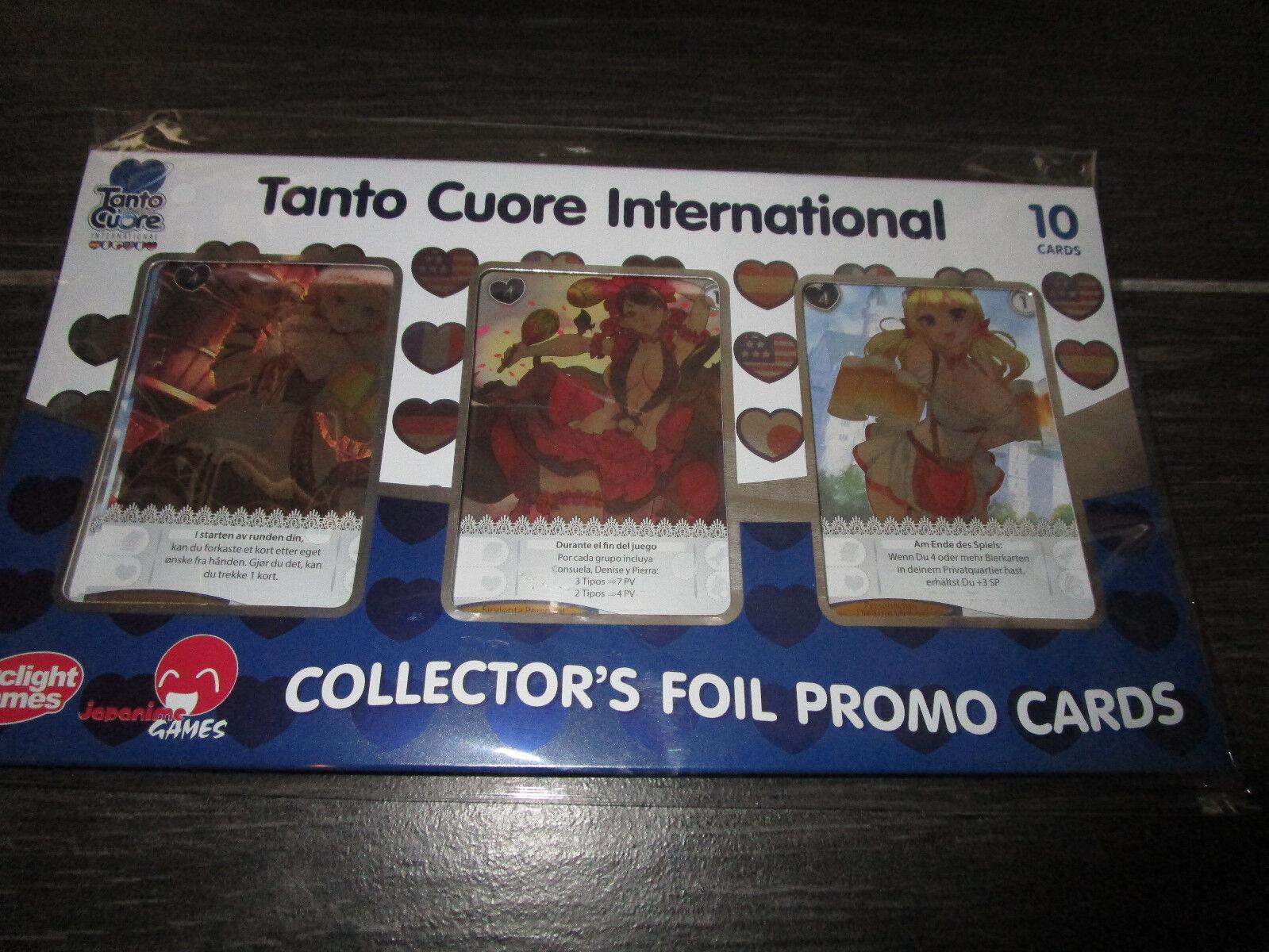 Tanto Cuore INTERNATIONAL COLLECTOR'S Foil Promo Set de cartes pédale de démarrage