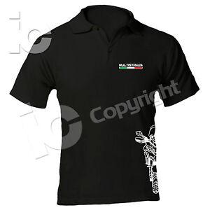 Polo-Ducati-Multistrada-Desmo-Turismo-Racing-Pista-Power-T-shirt-Moto-Travel