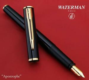 Waterman  Allure Black /& Gold Ballpoint Pen New In Box