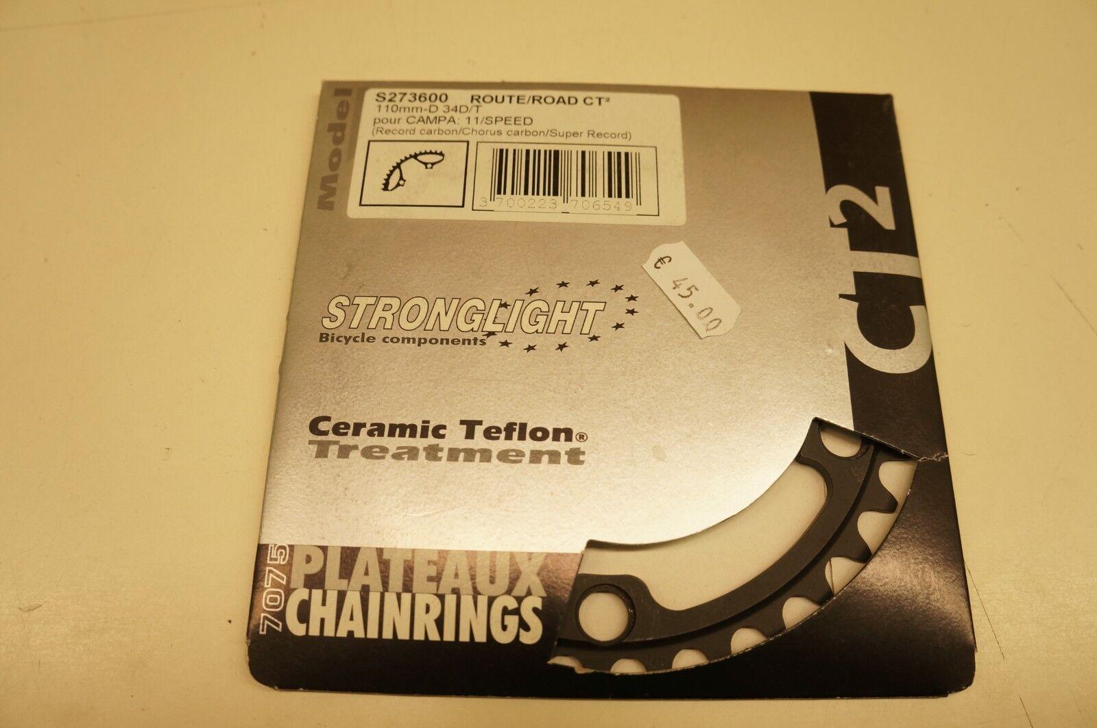 1 CgoldNA  stronglight 110 COMPATIBILE campagnolo Chainring   34 bici corsa  100% price guarantee