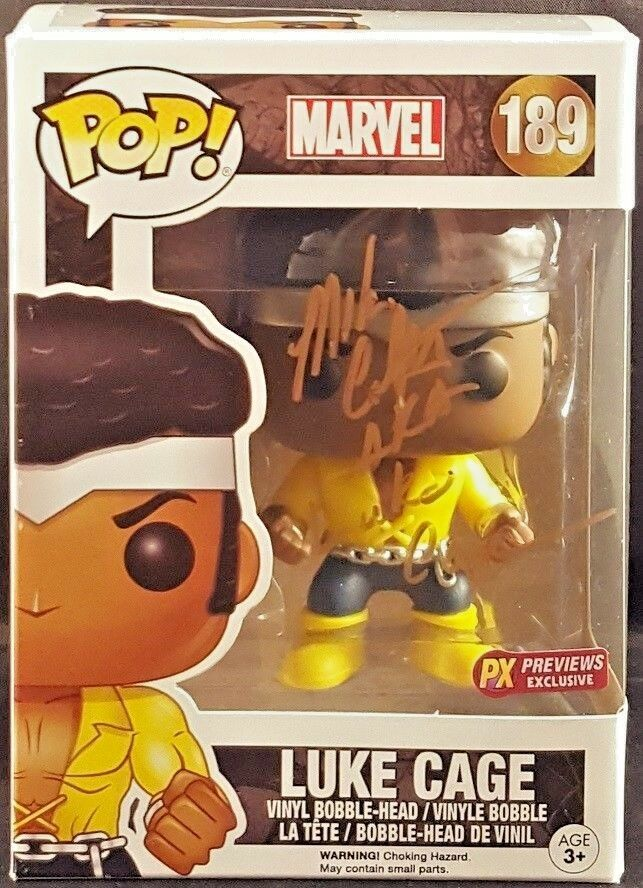 MARVEL Comics Funko POP  LUKE CAGE PX PREVIEWS EXCLUSIVE Signed Mike Colter