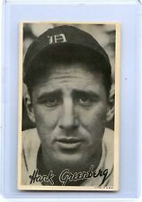 1936 GOUDEY (R314) HANK GREENBERG BASEBALL CARD, DETROIT TIGERS, HOF, RARE