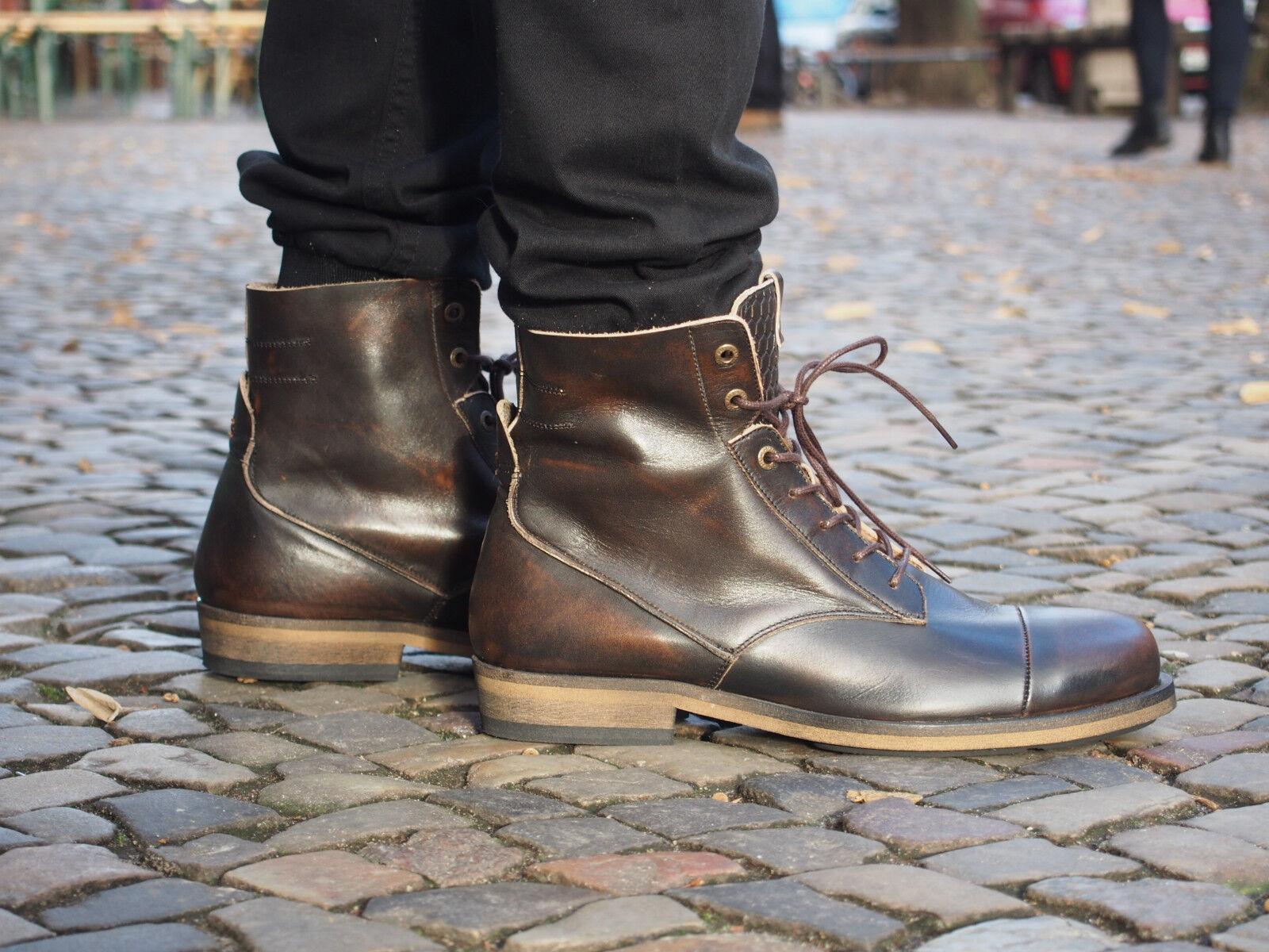 HUB Footwear Herrenschuhe Fullback coffee braun braun braun Stiefelette Echtleder NEU SALE af1ffc