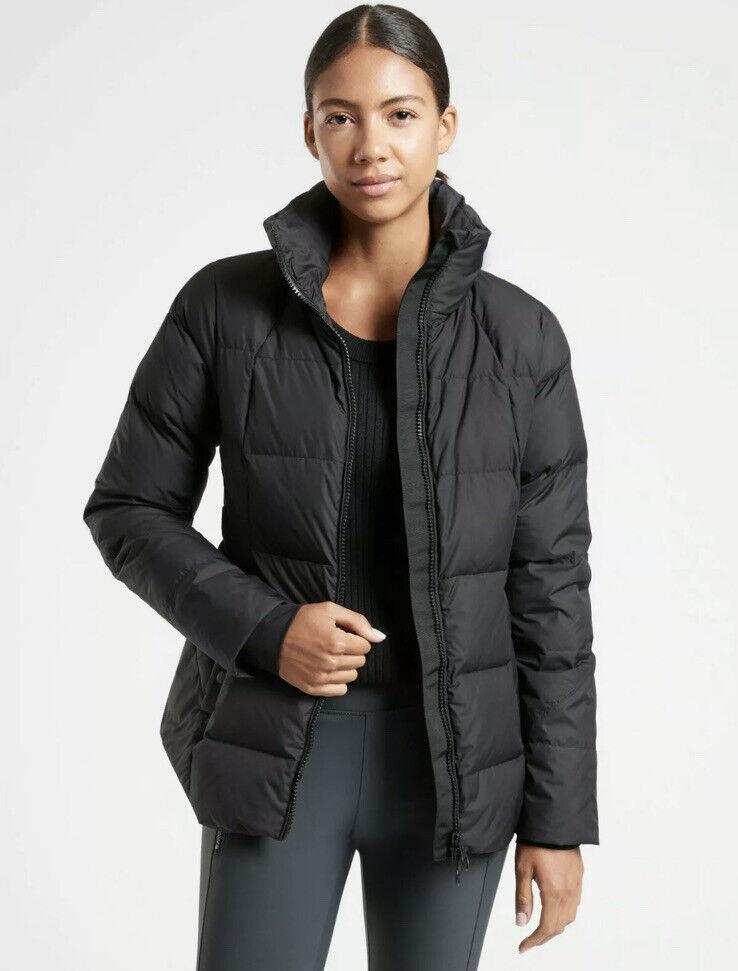New! Athleta Downtown Jacket Coat Black Size Medium #599479
