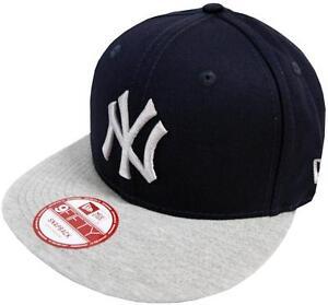 New-Era-New-York-Yankees-Jersey-Team-Snap-Navy-Grey-Snapback-Cap-S-M-9fifty-New