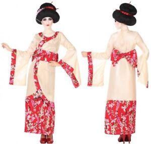 Deguisement-Femme-Japonaise-GEISHA-Rose-XL-44-Costume-Adulte-Chinoise-NEUF
