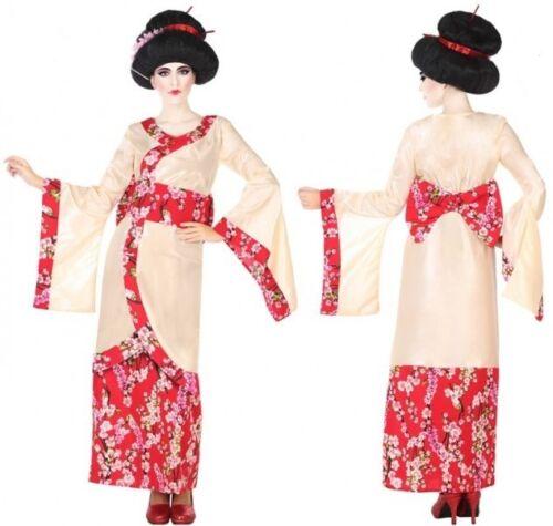 Déguisement Femme Japonaise GEISHA Rose XL 44 Adulte Chinoise NEUF Pas cher