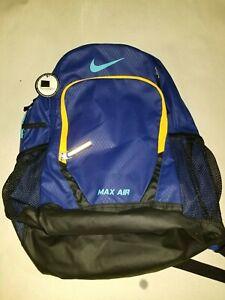 4d0f882e8e Nike Air Max Backpack Team Trainer Laptop Sports Bookbag Large Blue ...