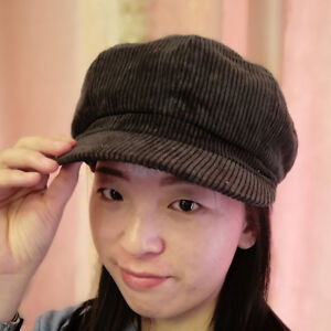 Femmes-Velours-cotele-Hat-Bakerboy-Newsboy-Cap-Gatsby-Beret-Baseball-Chapeau-Cap