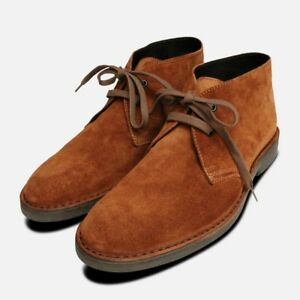 Aggressiv Rich Whiskey Suede Mens Desert Boots