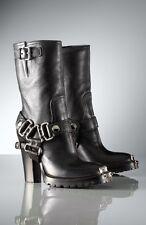Miu Miu Mid-Calf High-Heel Biker Boot - Size 38.5 - $1450