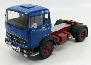 ROAD-KINGS 1/18 MERCEDES BENZ   LP 1632 TRACTOR TRUCK 1969   BLUE RED BLACK