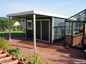 Go iso hochwertiges gartenhaus isoliert anthrazitgrau 4 00 x 4 00 m ebay - Gartenhaus isoliert ...