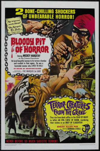 Bloody pit of horror Il Boia scarlatto 1965 Cult Horror movie poster print 2