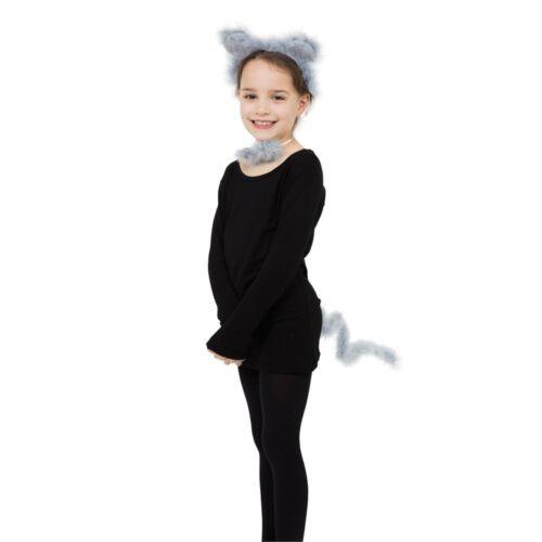 BRISTOL NOVELTY Ds188 Mouse Set Gris Marabou Une Taille-Déguisements animal