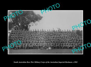 OLD-LARGE-HISTORIC-PHOTO-OF-SOUTH-AUSTRALIA-BOER-WAR-IMPERIAL-BUSHMAN-CORPS-1901