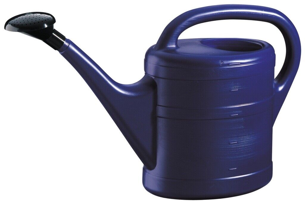 Green Wash Essential Indoor Outdoor Plastic Plant Watering Can - 10L - Blue