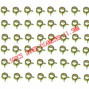 50pcs 11.5mm Steel Band Scooter ATV Fuel Line Hose Tubing Spring Clips Clamps
