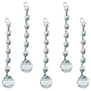 5Pcs-20mm-Clear-K9-Crystal-Glass-Chandelier-Light-Ball-Prism-Suncatcher-Drops-US