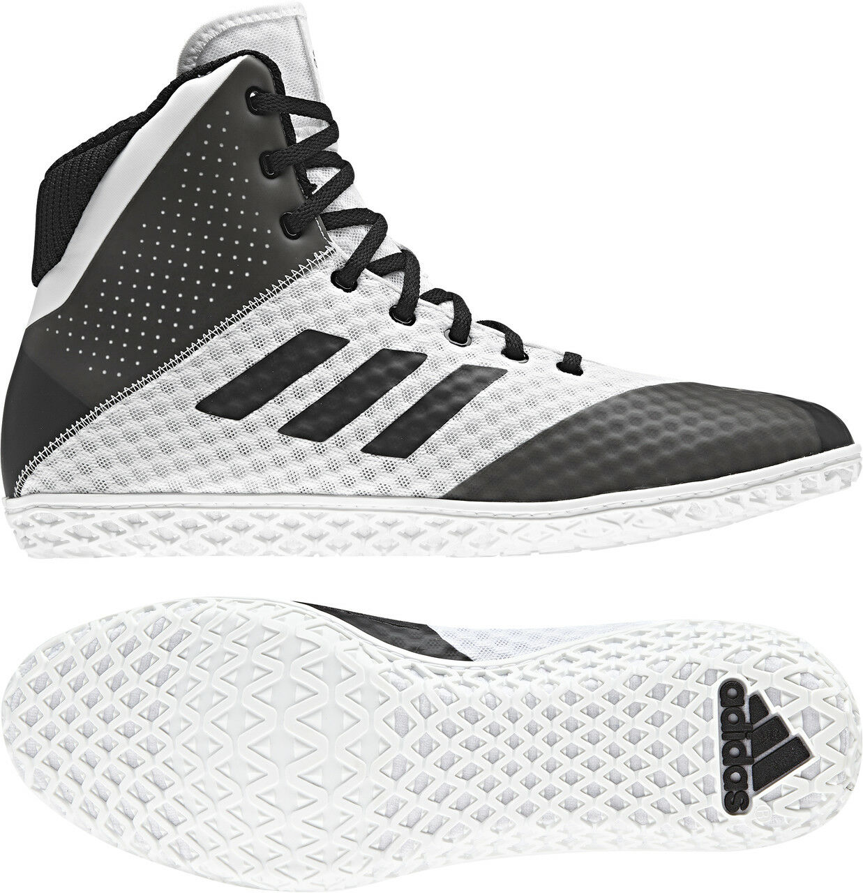 Adidas 2018 Mat Wizard 4 White Black Wrestling shoes Men's Adult Adidas shoes