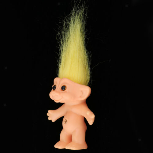 Vintage Lucky Troll Doll Mini Figures Toy for Cake Toppers Party Favors #D