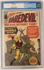 Daredevil #4 10/64 CGC VF- 7.5 First App. of The Purple Man Jack Kirby Cover
