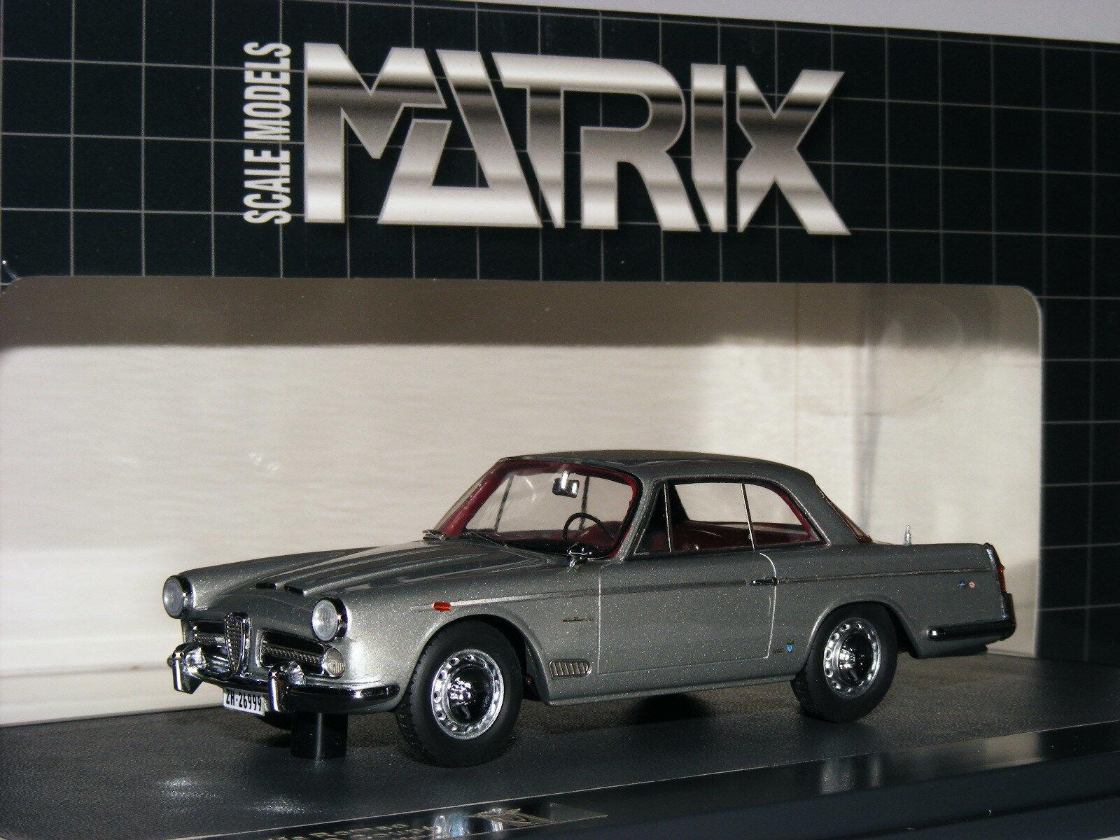 Matrix 1962 ALFA ROMEO 2000 S Vignale argent métallisé LTD ED 1 43