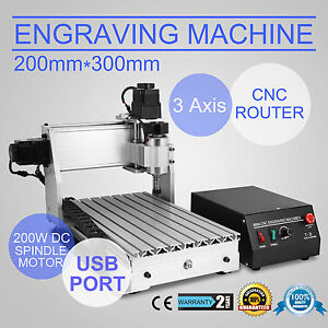 3-AXIS-3020T-USB-CNC-ROUTER-ENGRAVER-ENGRAVING-USB-PORT-200W-MILLING-CUTTING
