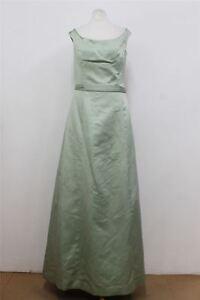 Uk8 Dress Maxi Neckline Wang Mint Us6 Button Ladies Gown Ball Vera Detail Boat 7RwUnq