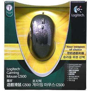 Details about Logitech G500 Black Chrome 10 Buttons Scroll Wheel USB Wired  Laser 5700dpi Mouse