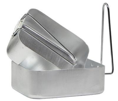 Nouveau highlander aluminium armée style paire de mess tins pour camping cuisine