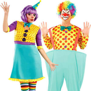 Colourful-Clown-Adults-Fancy-Dress-Circus-Carnival-Funny-Mens-Womens-Costume-New