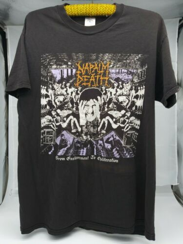 NAPALM DEATH From Enslavement 90s death metal grin
