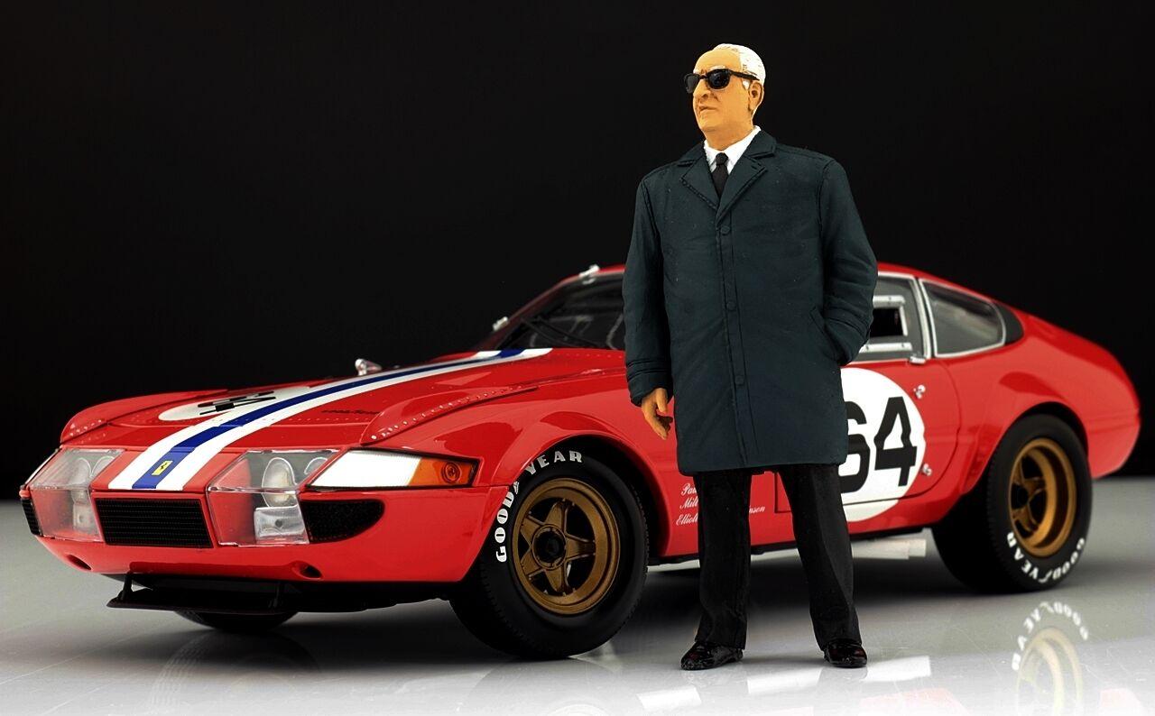 Enzo Ferrari (2) Personnage pour 1 18  HotWtalons 250 California 166 Very Rare  haute qualité