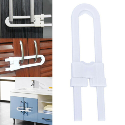 Baby Safety Lock U Shape Security For Cabinet Kids Cupboard Door Drawer Simple
