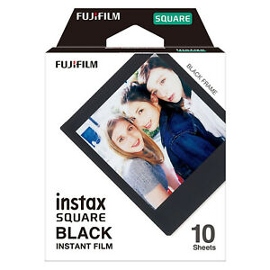 1 Pack 10 Photos Black Frame FujiFilm Instax SQUARE Film Polaroid Camera For SQ6