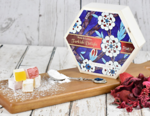 Food & Beverages 250g Wooden Box Turkish Delight Rose Lemon Soft Sweet Chewy Vegetarian Halal New Cheap Sales 50%