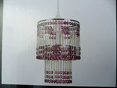 ACRYLIC TEARDROP BALL DROP NICKLE FRAME CEILING LIGHT FITTING SHADE LAMP SHADE