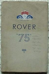 rover 75 car owners instruction manual handbook nov 1952 tp 154 b rh ebay co uk rover 75 instruction manual Rover 75 Interior