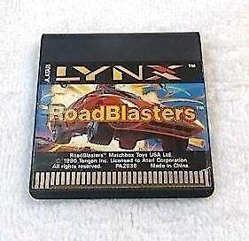 Atari Lynx ' Road Blasters ' Game Cartridge