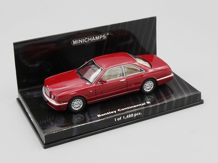 1 43 Minichamps Bentley Continental R 1996 röd metallisk L.E. 1488 pcs.