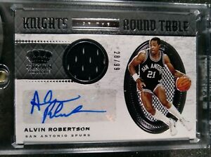 Alvin Robertson 2020-21 Crown Royale Knights of the Round Table 28/99 Auto Spurs