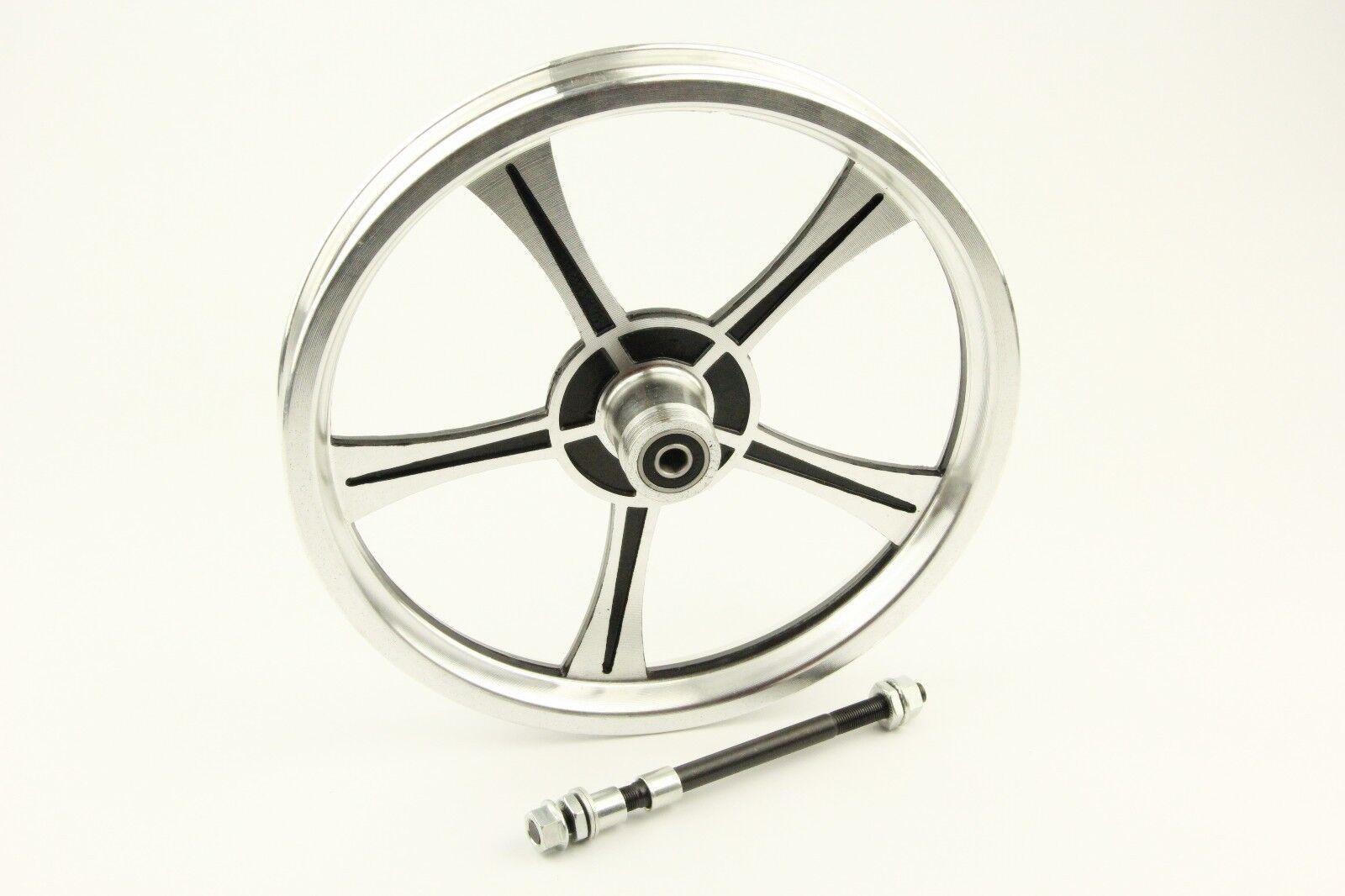 Bike Bicycle Rear Wheel 14 X 1.75 2.125 2.5'' Aluminum Scooter eBike