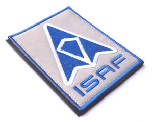 ISAF-Embroidered-Patches-TACTICAL-Patch-Hook-Military-Patches