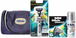 Gillette-MACH3-Limited-Edition-Travel-Pack-free-Gillette-kit-bag-Free-Shipping