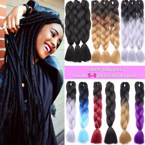 5packs 24 Quot Jumbo Braiding Hair Ombre Kanekalons African