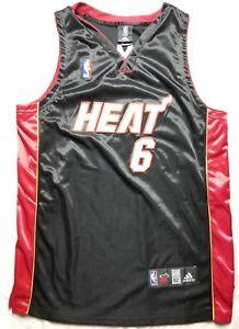 separation shoes d74e5 6b238 Details about Vintage Adidas Authentic LeBron James #6 Miami Heat NBA Home  Jersey Size 52