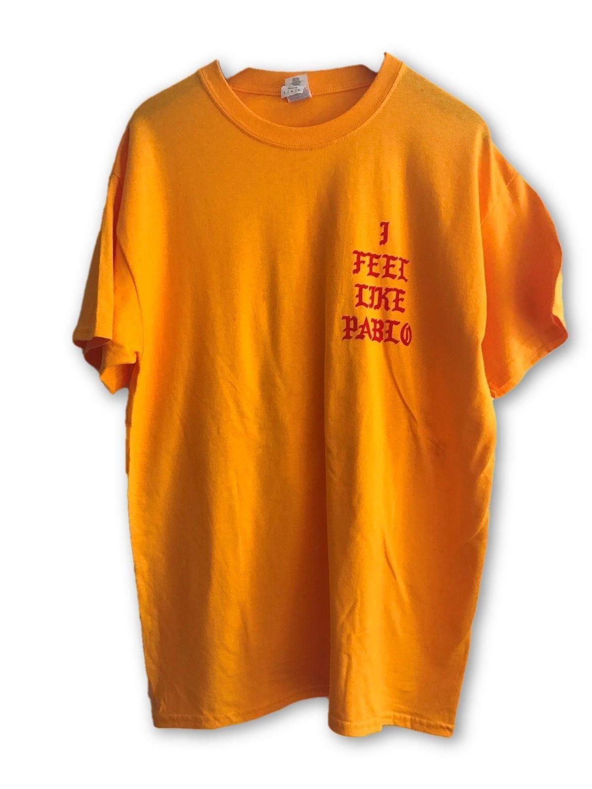 Kanye West Yeezy Life Of Pablo Gelb Short Sleeve Shirt Medium