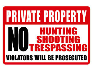 NO TRESPASSING PRIVATE PROPERTY Sign.Durable Aluminum.NO RUST Security Sign
