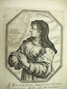 Santa Basilisse Michiel Van Lochom Siglo Xvii Para Duquesa De Pinchos 1639